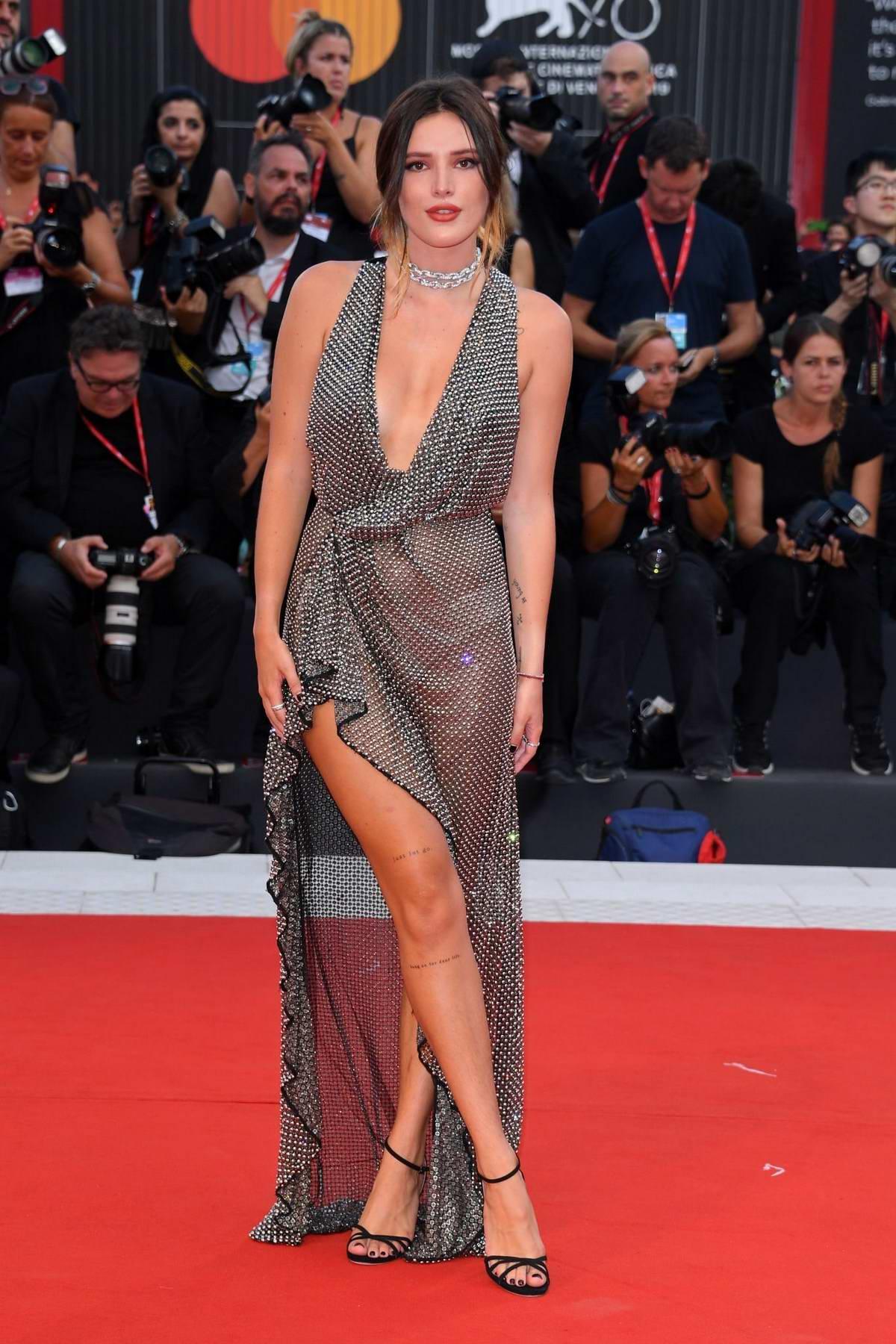 Bella Thorne attends 'Joker' Screening during the 76th Venice Film Festival in Venice, Italy