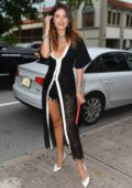 Bella Thorne looks great in a black outfit as she arrives for her book signing in Coral Gables, Florida