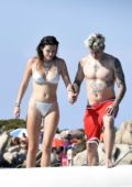 Bella Thorne slips into a silver bikini while enjoying her vacation with Benjamin Mascolo in Sardinia, Italy