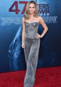Brec Bassinger attends '47 Meters Down: Uncaged' Premiere at Regency Village Theatre in Westwood, California