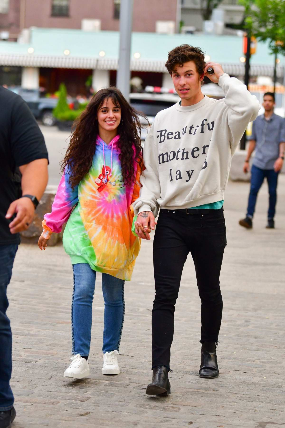 Camila Cabello can't stop smiling while out for a romantic stroll with Shawn Mendes in Brooklyn, New York City