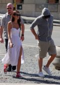 Camila Morrone and Leonardo DiCaprio steps out for a stroll in Cernobbio, Italy