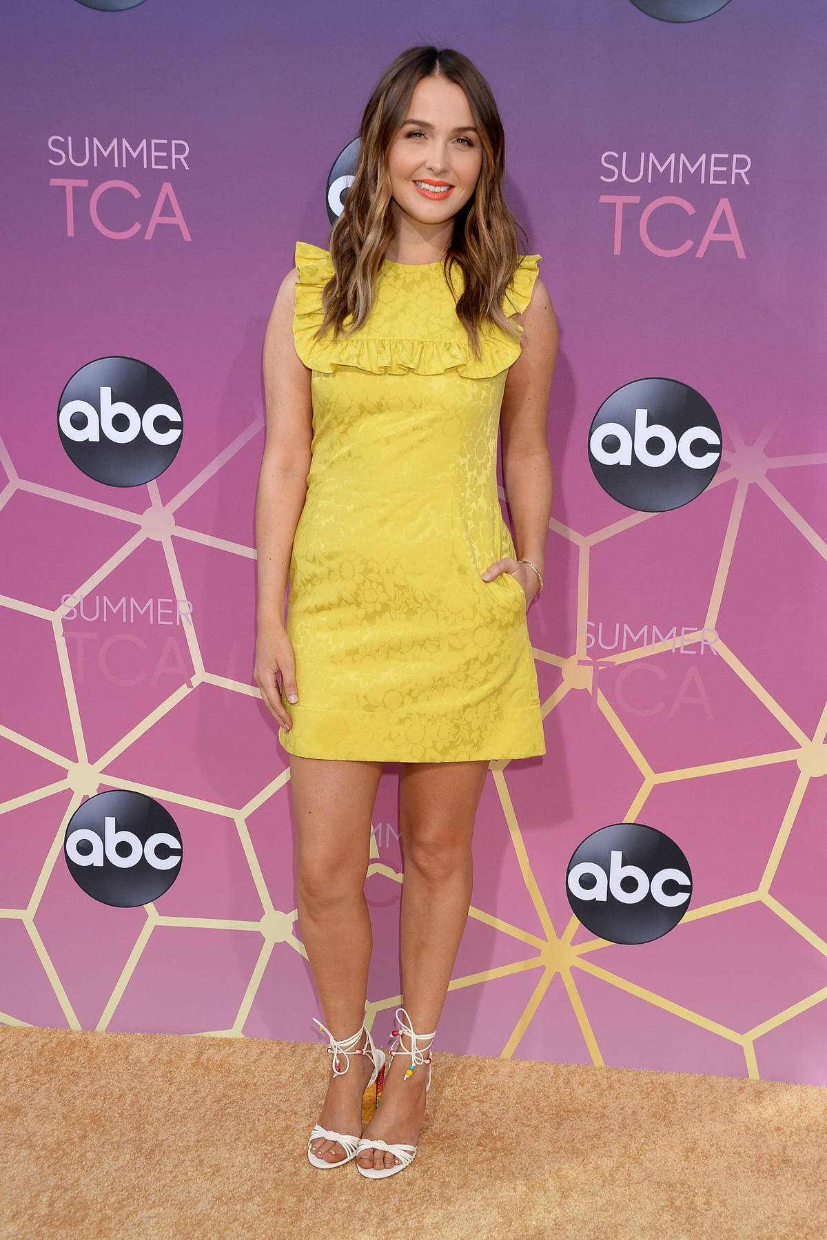 Camilla Luddington attends the ABC's 2019 TCA Summer Press Tour at Soho House in Beverly Hills, Los Angeles