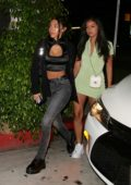 Chantel Jeffries and Cindy Kimberly enjoy a night out at Poppy nightclub in West Hollywood, Los Angeles