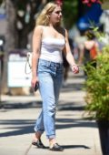 Chloe Lukasiak keeps it casual in a white top and jeans while out for lunch at Joan's On Third in Studio City, Los Angeles