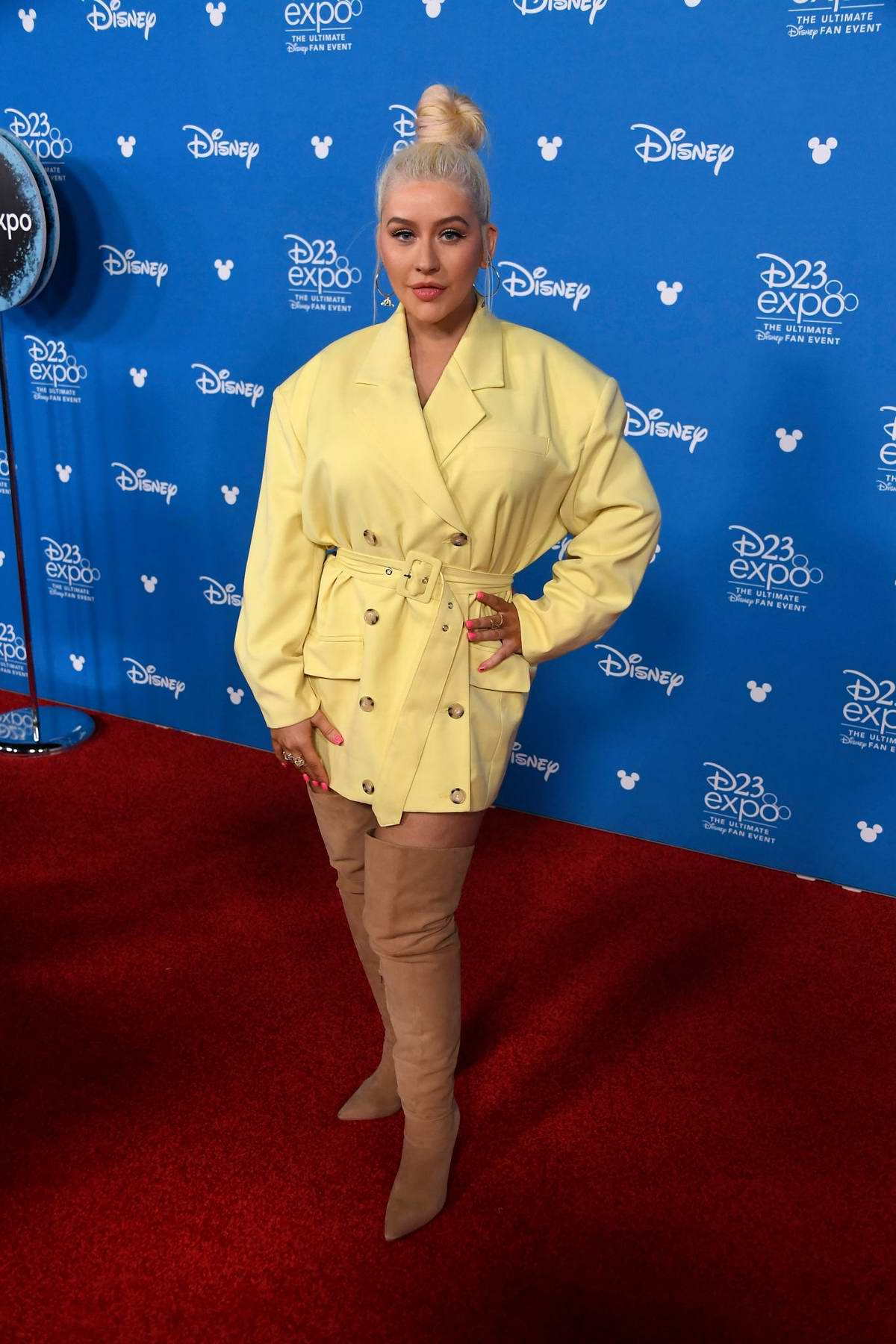 Christina Aguilera attends Disney D23 Expo 2019 at Anaheim Convention Center in Anaheim, California