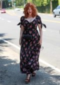 Christina Hendricks arrives at the InStyle Day of Indulgence Party in Brentwood, Los Angeles