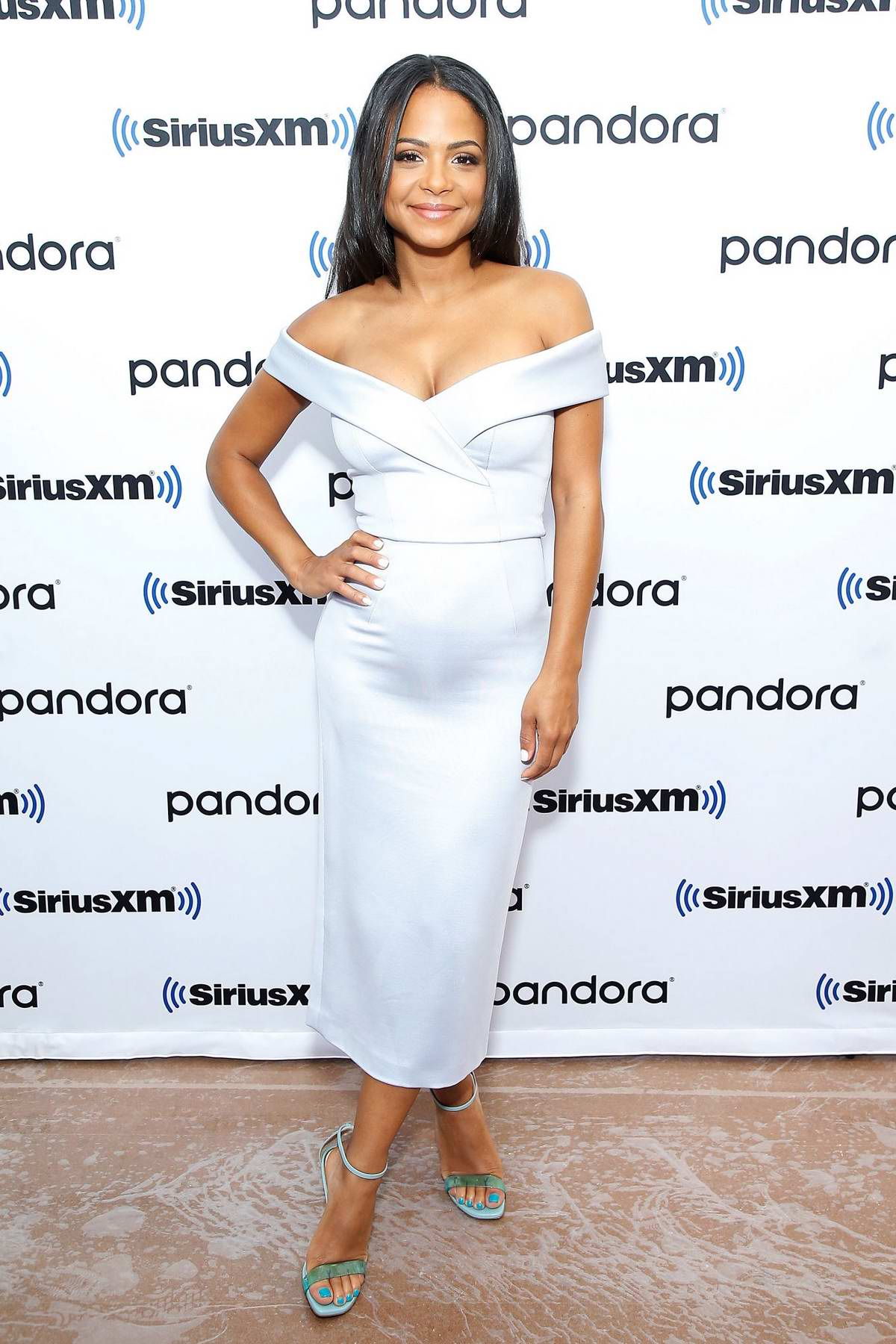 Christina Milian visits SiriusXM Studios in New York City