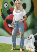 Dove Cameron attends the premiere of ' The Angry Birds Movie 2' at the Regency Theater in Westwood, California