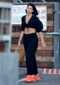 Dua Lipa dons all-black while out shopping in Malibu, California