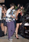 Dua Lipa seen leaving her birthday party with Anwar Hadid at Nobu in Malibu, California