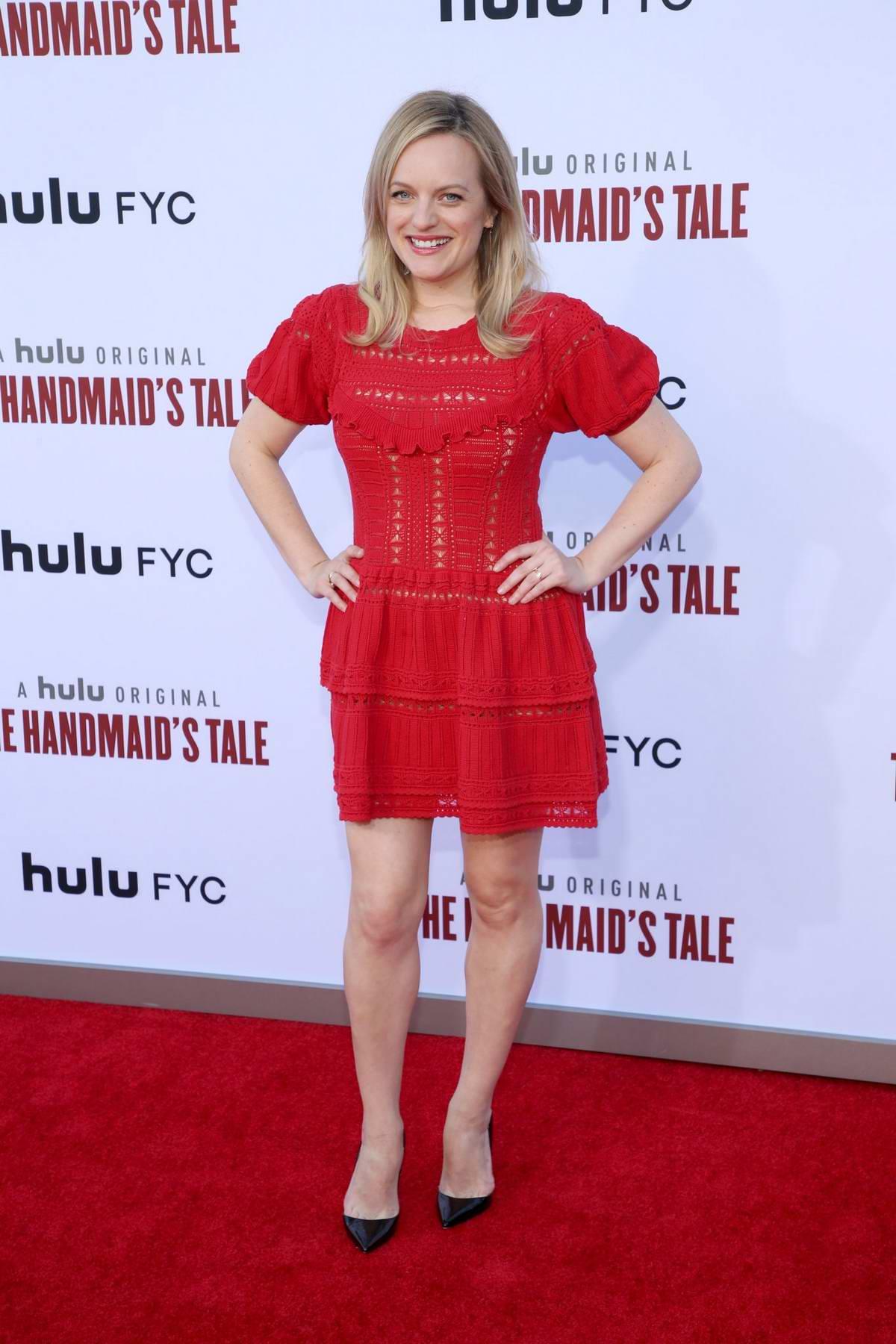 Elisabeth Moss attends 'The Handmaid's Tale' Season 3 Finale at Regency Village Theatre in Westwood, California