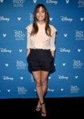 Elizabeth Olsen attends Disney D23 Expo 2019 at Anaheim Convention Center in Anaheim, California