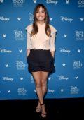 Elizabeth Olsen attends Disney D23 Expo 2019 at Anaheim Convention Center in Anaheim, California