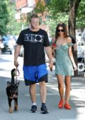 Emily Ratajkowski and Sebastian Bear-McClard stepped out for a walk with their pup Colombo in New York City