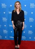 Emily VanCamp attends Disney D23 Expo 2019 at Anaheim Convention Center in Anaheim, California