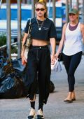 Gigi Hadid looks trendy in all-black while stepping out in SoHo, New York City