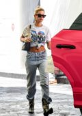 Hailey Baldwin and Justin Beiber seen heading out in their pink Lamborghini Urus in Los Angeles