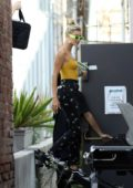 Hailey Baldwin and Justin Bieber heads to the studio with their new pet in West Hollywood, Los Angeles