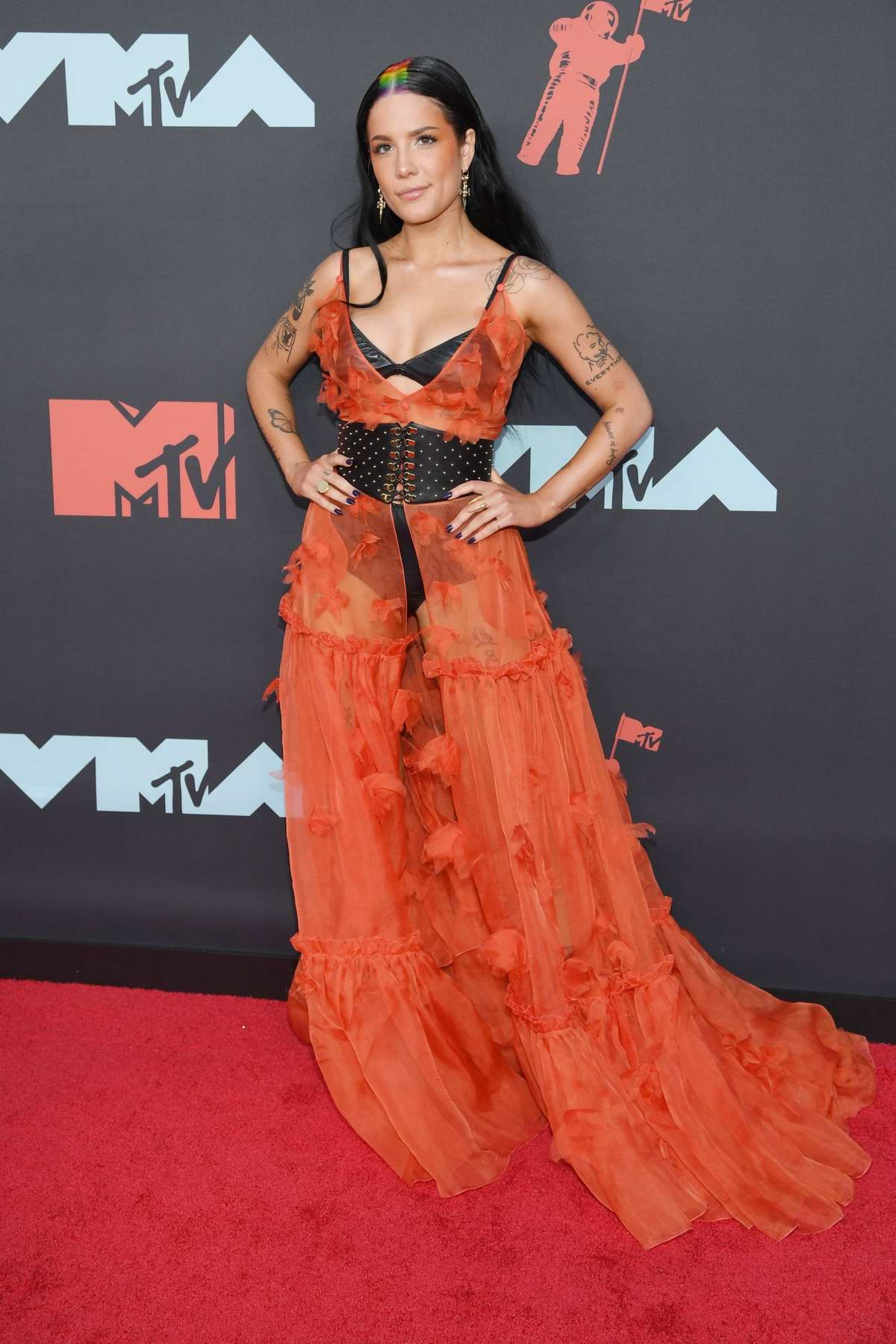 Halsey attends the 2019 MTV Video Music Awards at Prudential Center in Newark, New Jersey