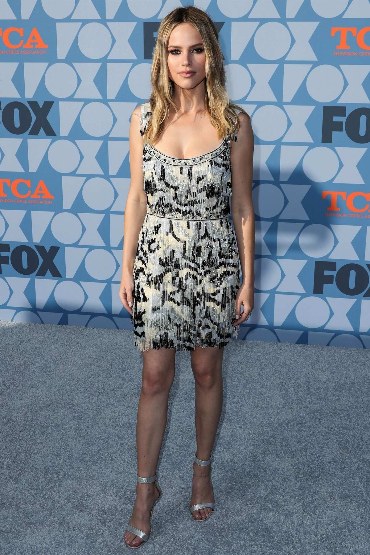 Halston Sage attends the Fox Network's 2019 TCA Summer Press Tour Party at FOX Studios in Los Angeles