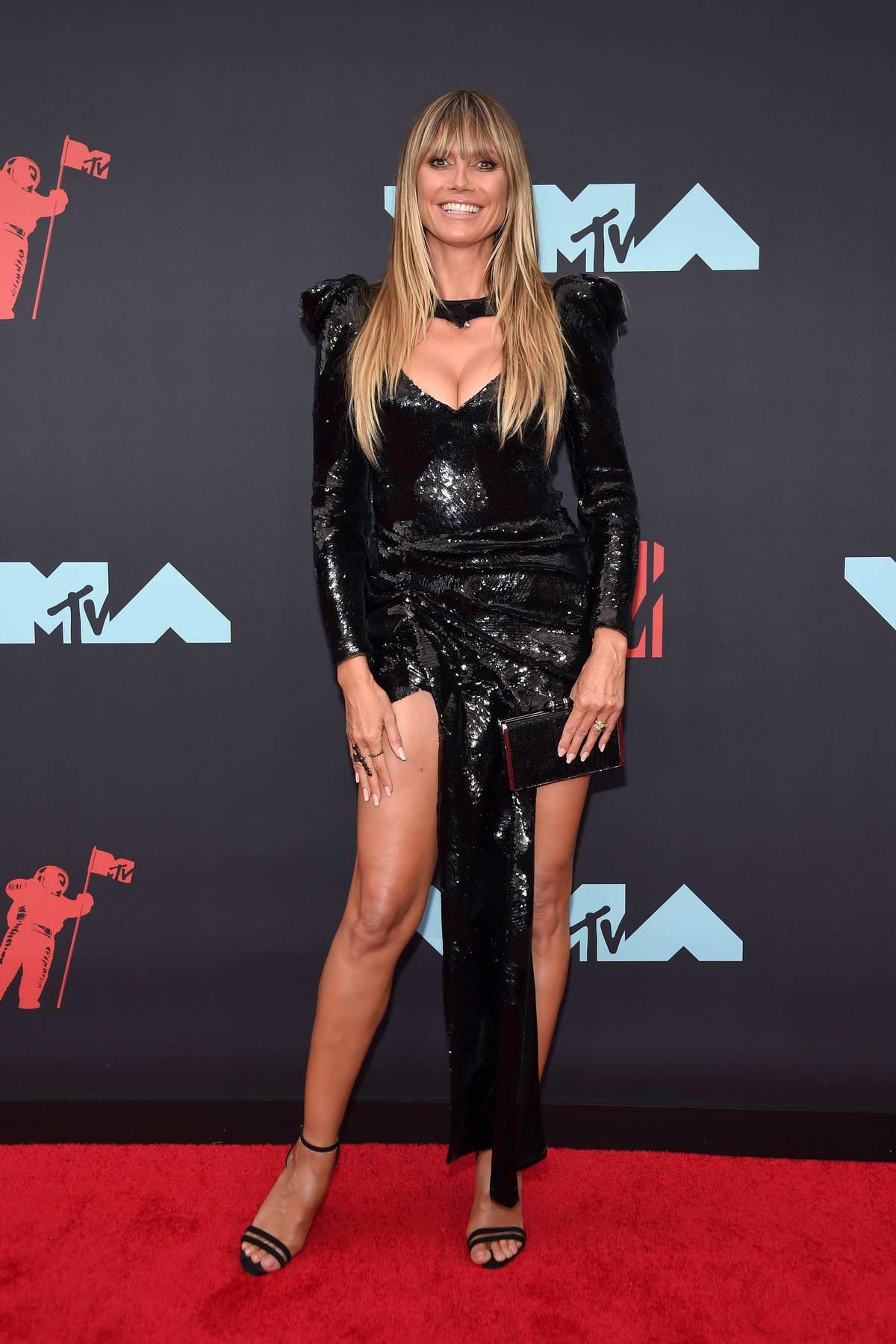 Heidi Klum attends the 2019 MTV Video Music Awards at Prudential Center in Newark, New Jersey