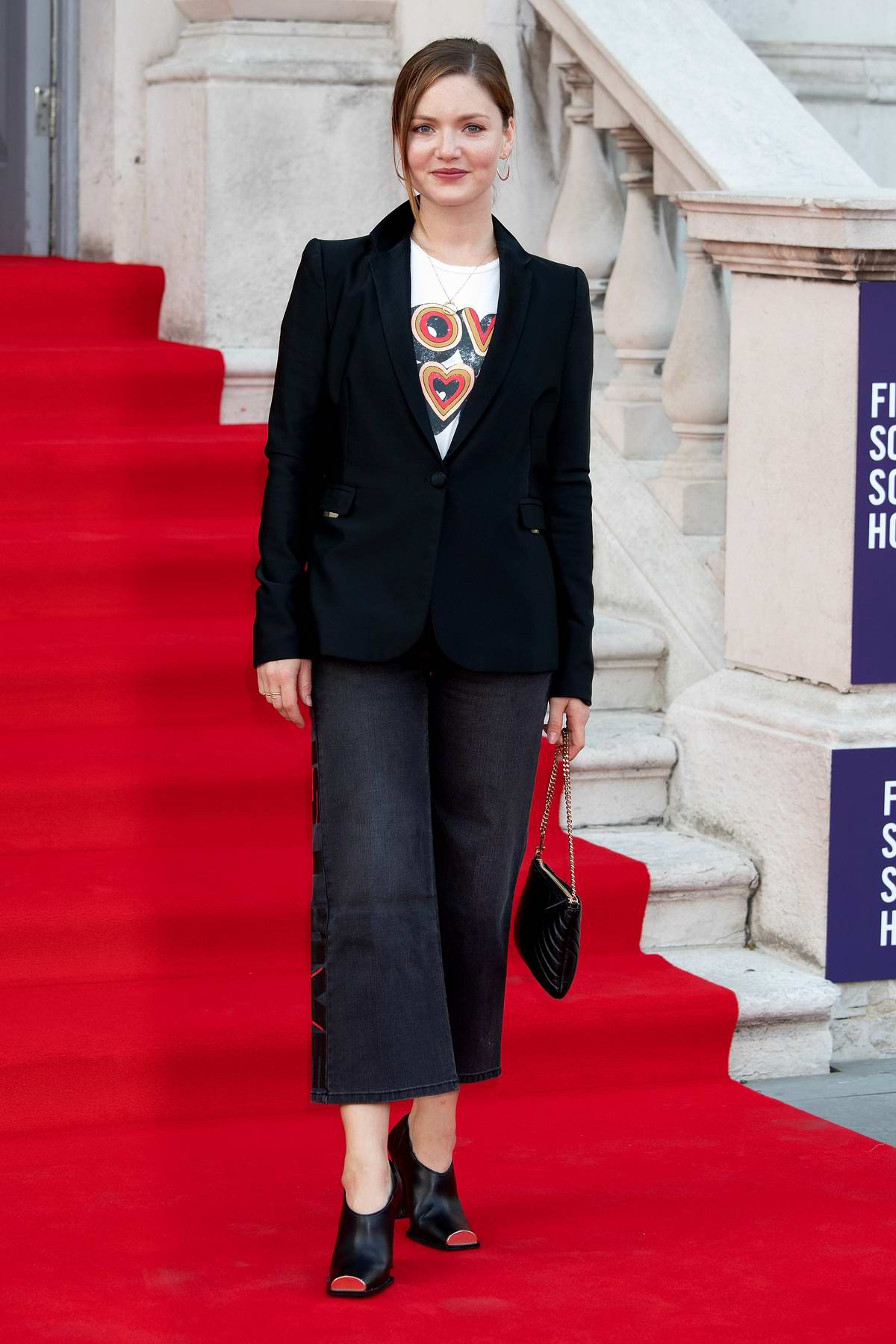 Holliday Grainger attends the premiere of 'Pain and Glory' at Somerset House in London, UK
