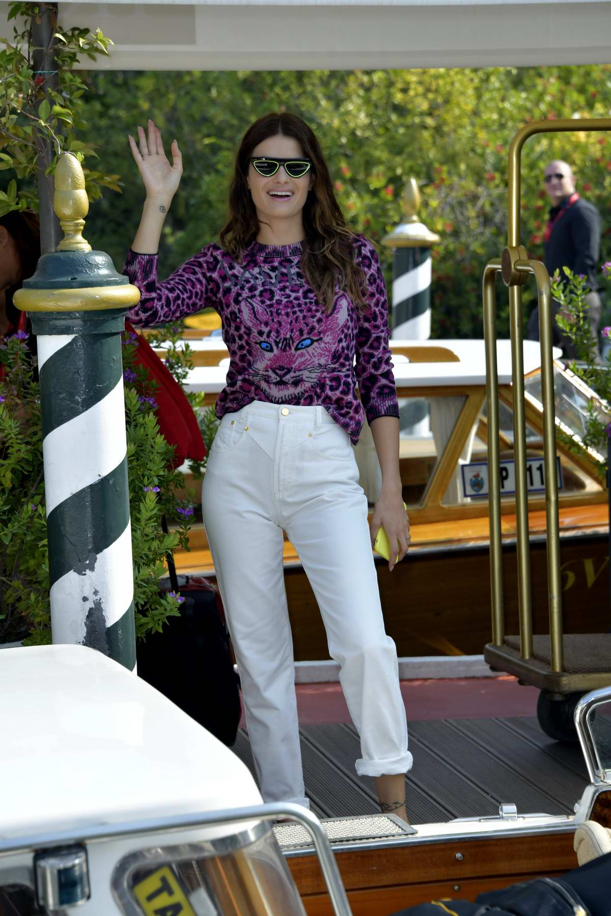 Isabeli Fontana looks amazing as she arrives at the Excelsior Hotel during the 76th Venice Film Festival in Venice, Italy
