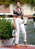 Isabeli Fontana looks amazing she arrives at Excelsior Hotel during 76th Venice Film Festival in Venice, Italy