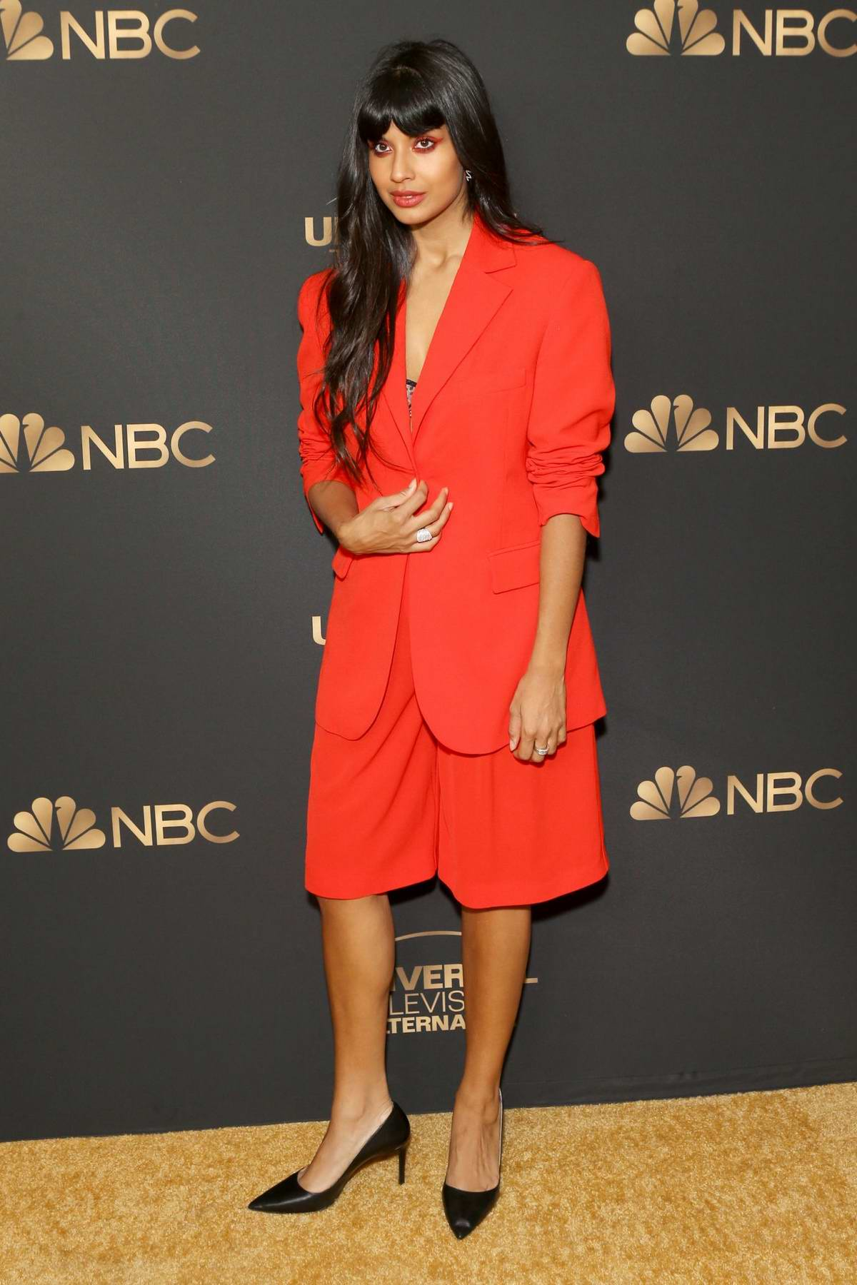 Jameela Jamil attends the NBC and Universal EMMY nominee celebration in West Hollywood, Los Angeles