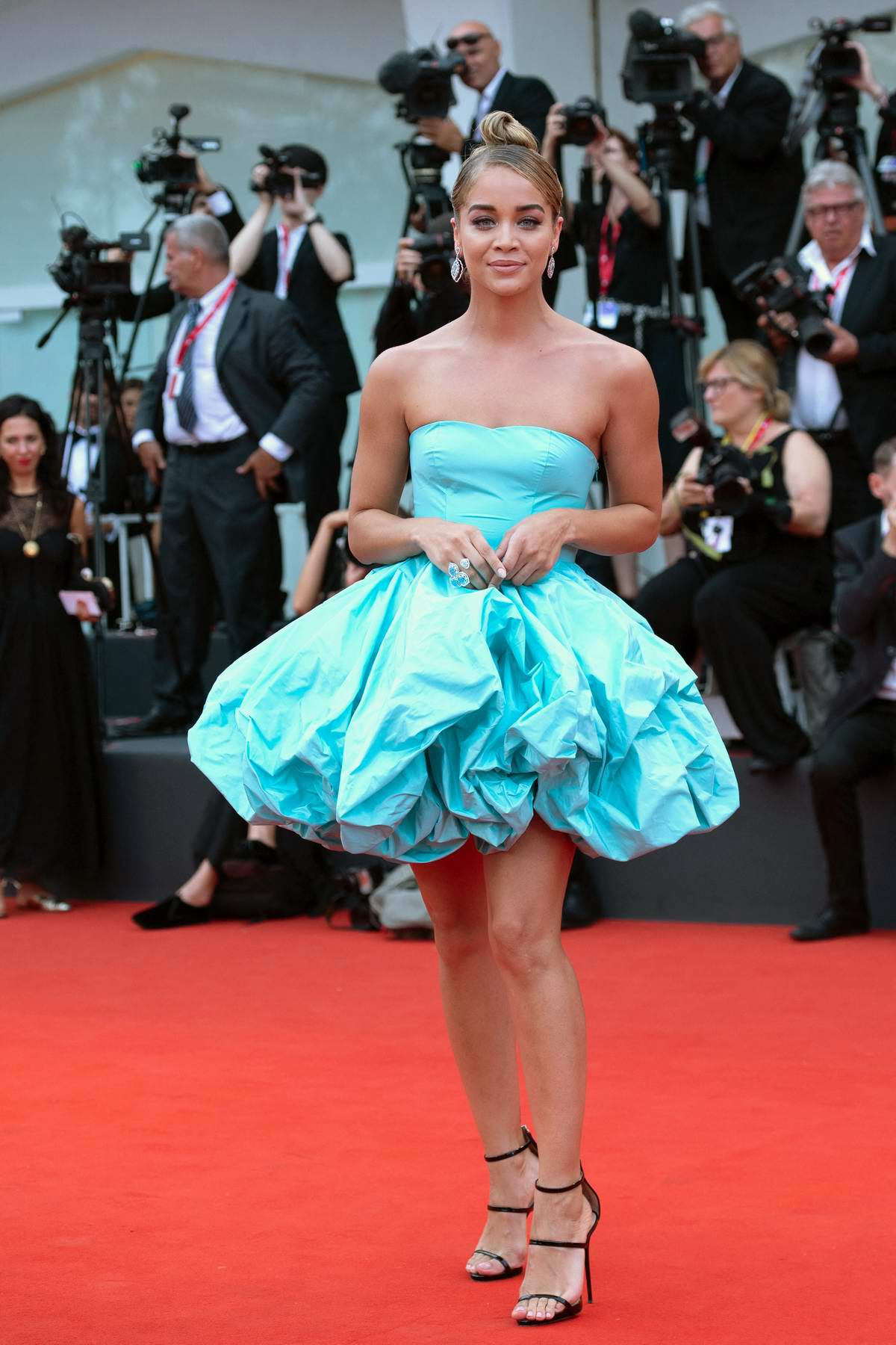 Jasmine Sanders attends the Opening Ceremony and 'La Vérité' (The Truth) screening during the 76th Venice Film Festival in Venice, Italy
