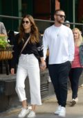 Jessica Biel and Justin Timberlake hold hands while heading to dinner at Yves restaurant in Tribeca in New York City