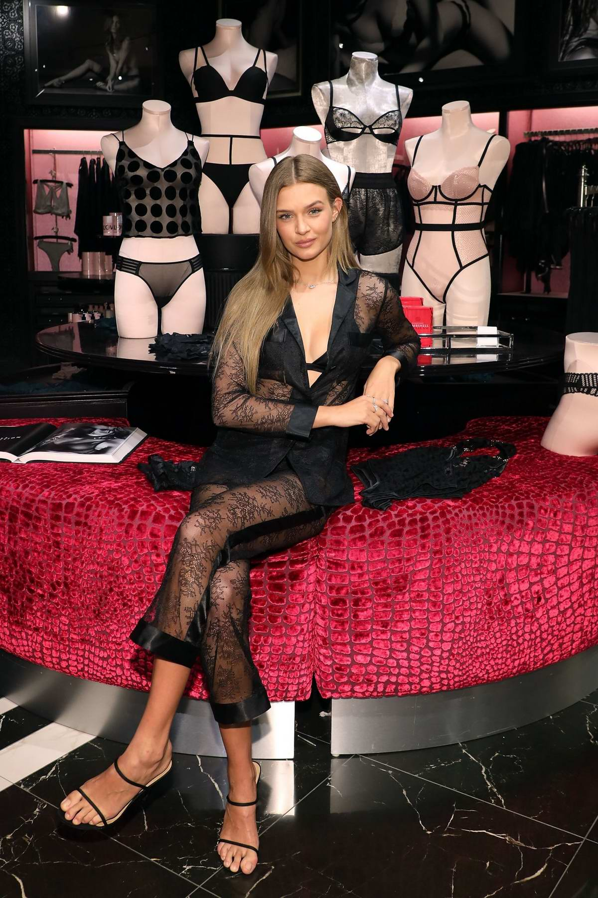 Josephine Skriver attends the debut of Victoria's Secret new Fall Collection in Natick, Massachusetts