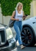 Julianne Hough keeps it casual in white tank and jeans as she leaves a business meeting in West Hollywood, Los Angeles