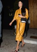 Kacey Musgraves looks stylish in all yellow leather ensemble during a night out at The Nice Guy in West Hollywood, Los Angeles