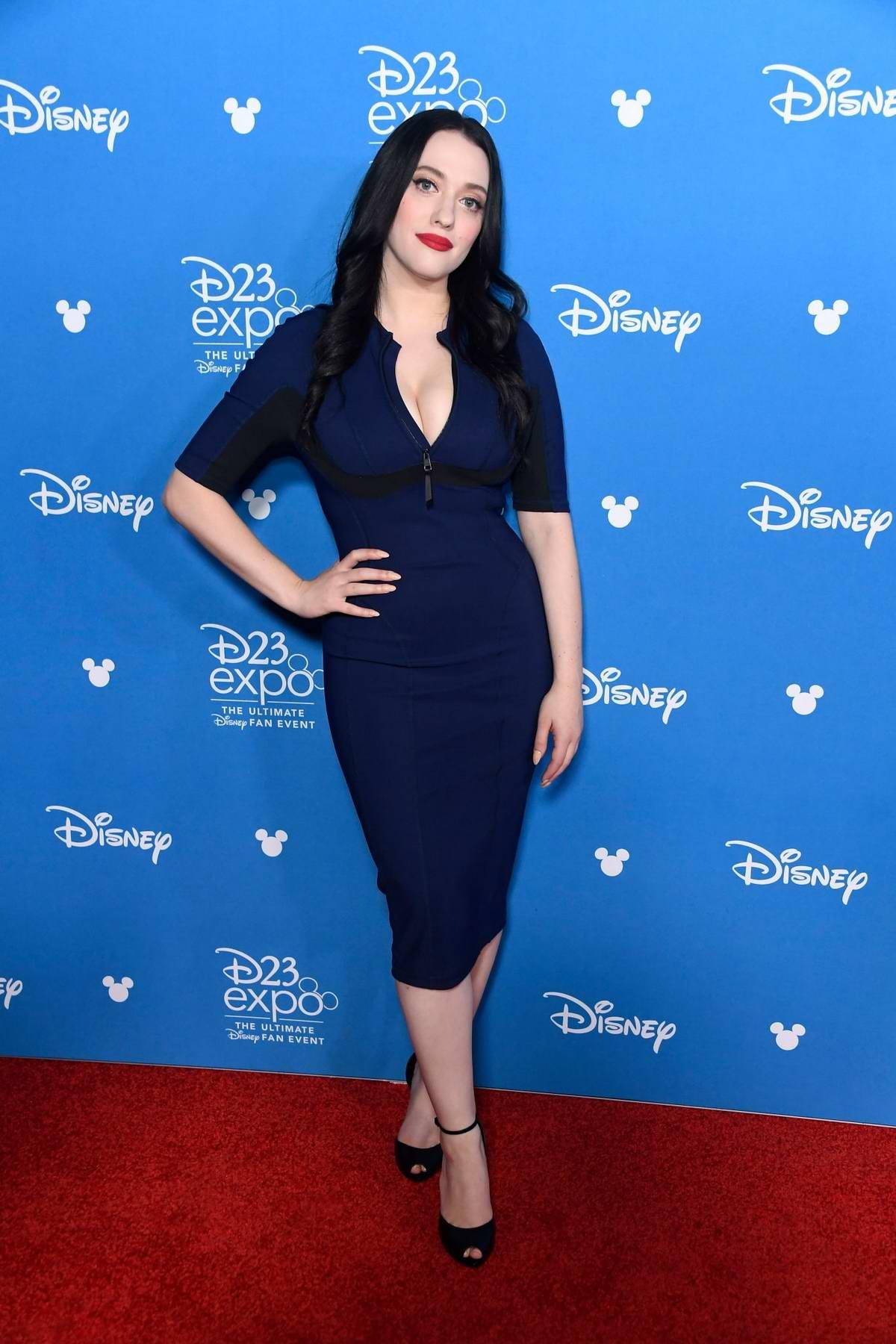 Kat Dennings attends Disney D23 Expo 2019 at Anaheim Convention Center in Anaheim, California