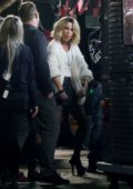 Kate Beckinsale sports a short blonde look while on the set of new film 'Jolt' in London, UK