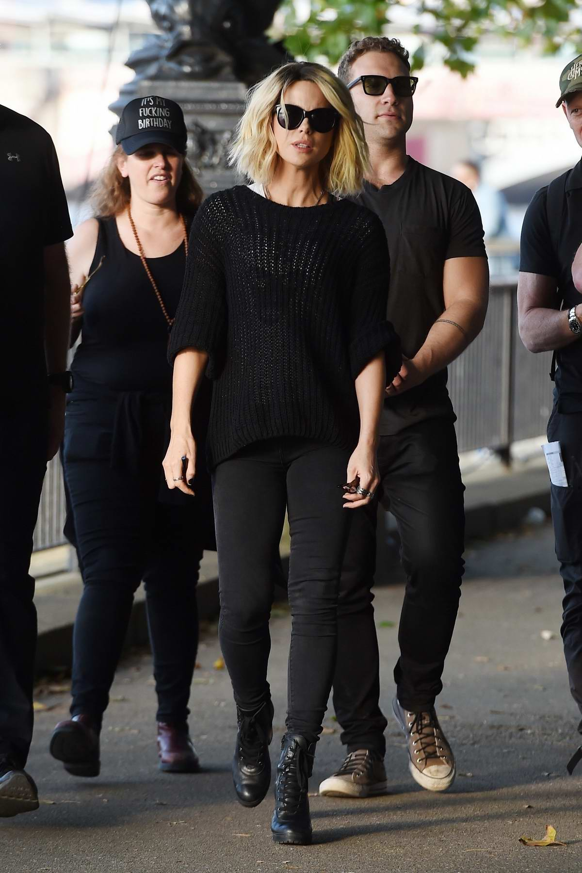 Kate Beckinsale spotted on the set of new film 'Jolt' in London, UK