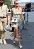 Kate Upton looks pretty in a short floral dress while out during 76th Venice Film Festival in Venice, Italy