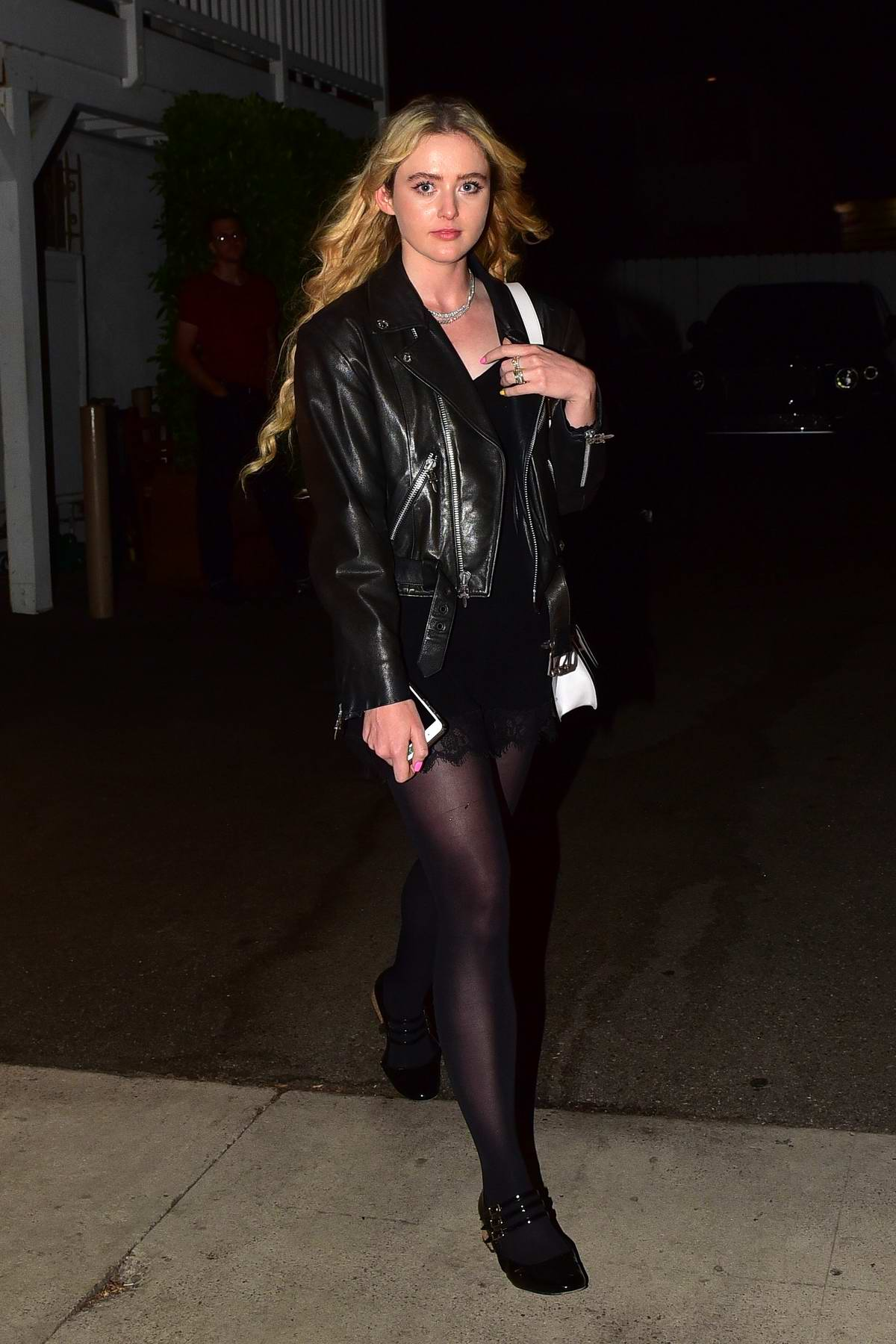 Kathryn Newton enjoys a night out with Brandon Thomas Lee at Giorgio Baldi in Santa Monica, California