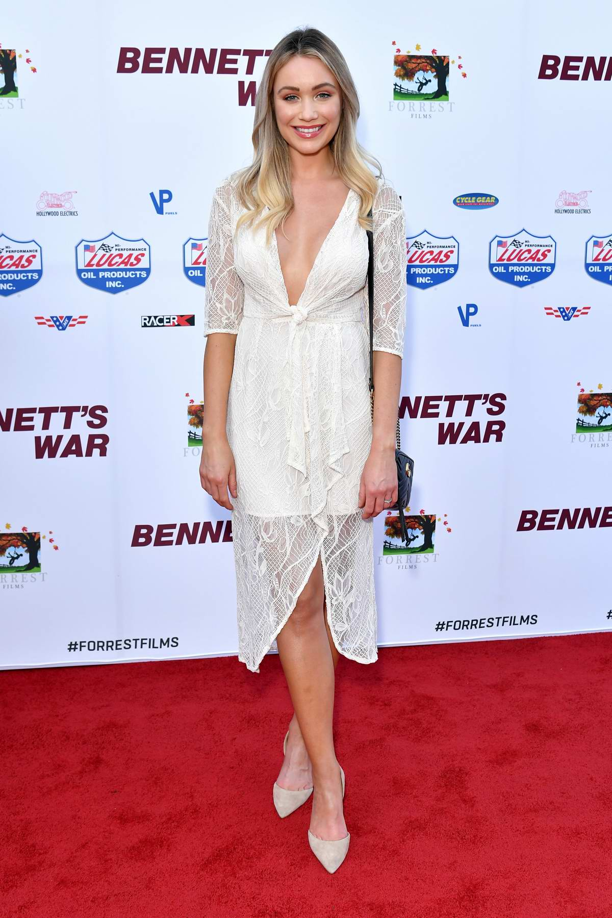 Katrina Bowden attends the LA Premiere of 'Bennett's War' at Warner Bros Studios in Burbank, California