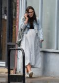 Keira Knightley shows off her massive baby bump as she steps out in London, UK