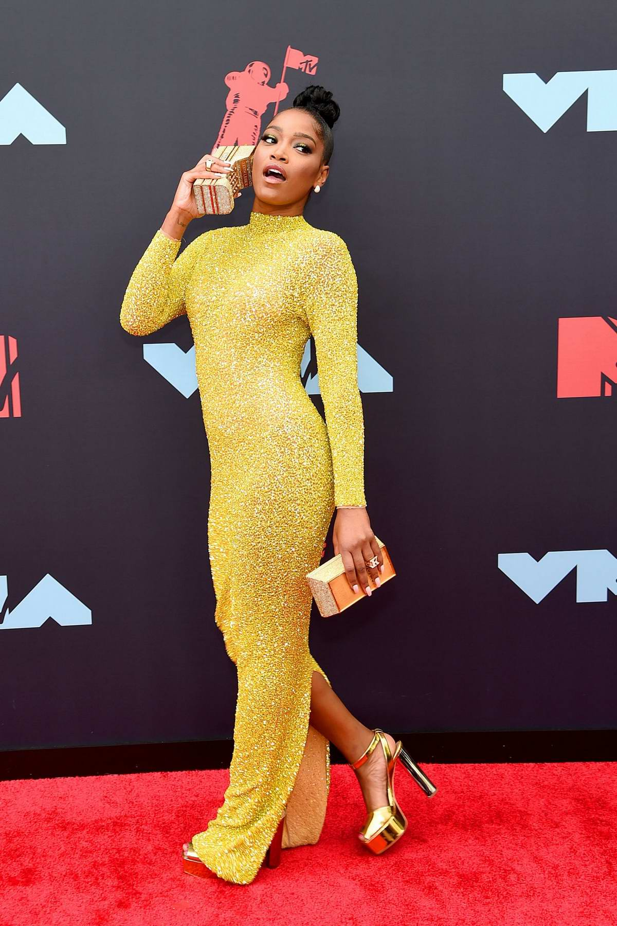 Keke Palmer attends the 2019 MTV Video Music Awards at Prudential Center in Newark, New Jersey