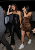 Kendall and Kylie Jenner arrive in style for a night out at The Nice Guy in West Hollywood, Los Angeles