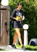 Kendall Jenner keeps it casual as she steps out with no makeup and an oversized T-shirt in Beverly Hills, Los Angeles