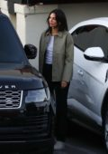 Kendall Jenner, Kylie Jenner and Anastasia Karanikolaou seen leaving dinner in Los Angeles