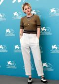 Kristen Stewart attends 'Seberg' photocall during the 76th Venice Film Festival at Sala Grande in Venice, Italy