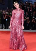 Kristen Stewart attends 'Seberg' screening during the 76th Venice Film Festival at Sala Grande in Venice, Italy