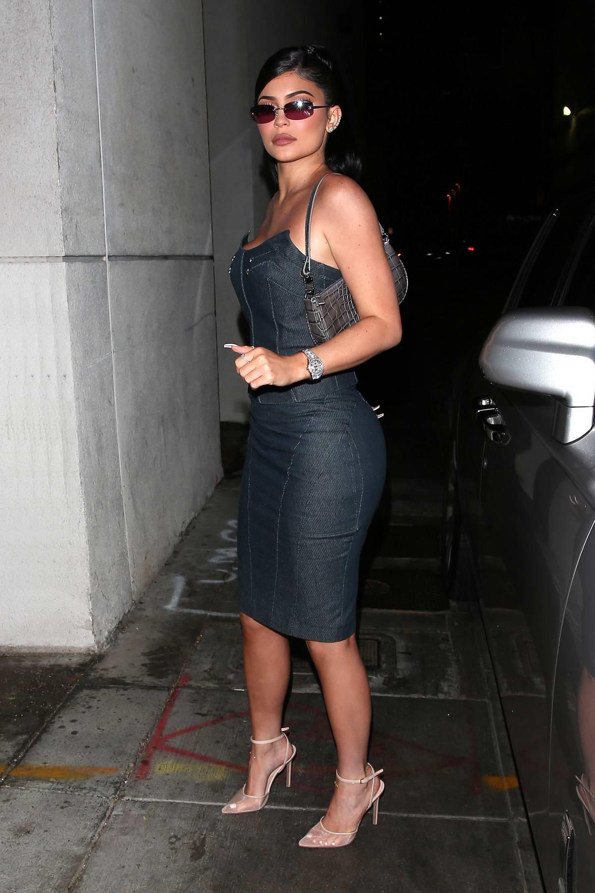 Kylie Jenner arrives to the after party of boyfriend Travis Scott's Netflix TV docu-series in Santa Monica, California