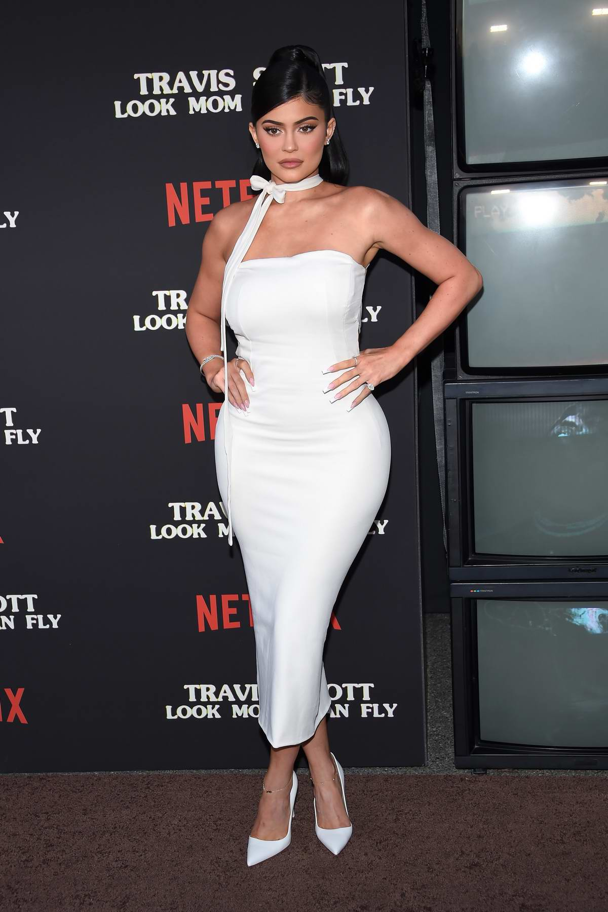 Kylie Jenner attends the premiere of Netflix's 'Travis Scott: Look Mom I Can Fly' in Santa Monica, California